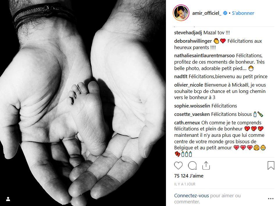 Amir dévoile la première photo de son bébé !