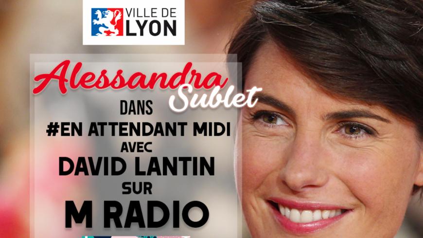 Alessandra Sublet à l'antenne d'M Radio !