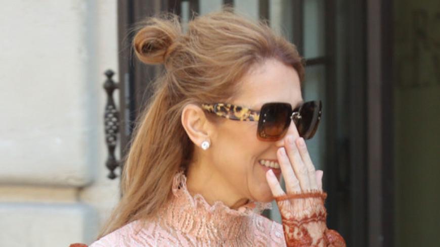 Céline Dion au milieu de ballons pour son départ de Paris !
